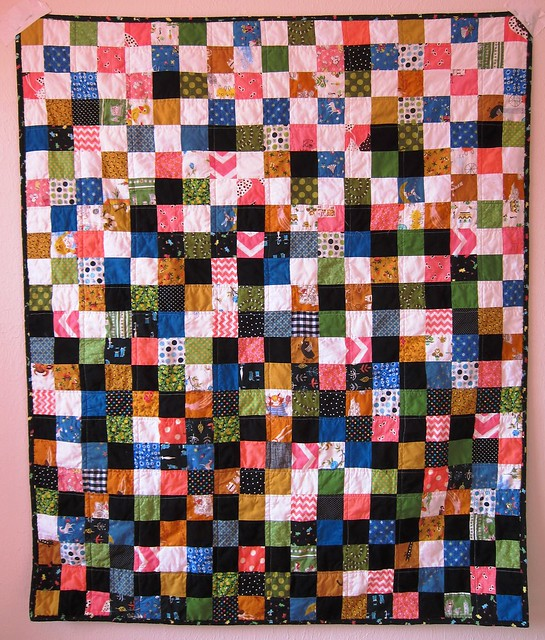 one-patch baby quilt