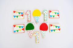 Carnival themed sugar cookies