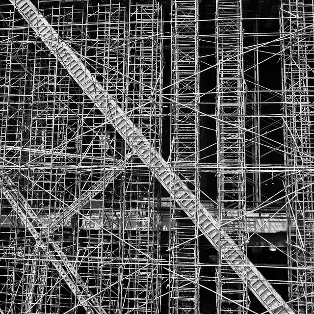 Scaffold along the High Line