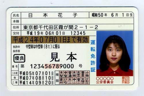 Водительские права в Японии