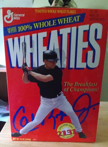 Cal Ripken in Plain Black Shirt Wheaties Box