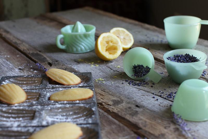 Lemon Madeleines + Lavender Glaze for Wit + Aroma