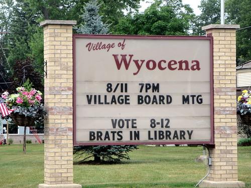 A Wyocena warning
