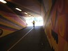 Rider in the Wayne Tunnel
