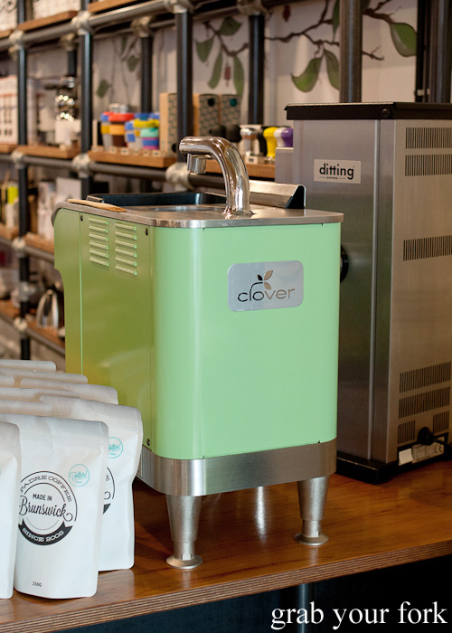 Clover coffee machine at The League of Honest Coffee, Melbourne