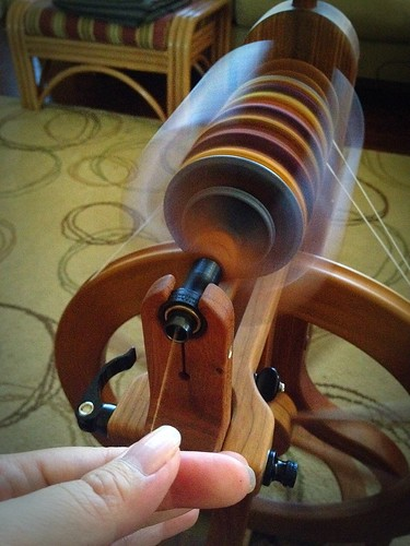 The final bobbin of singles is done...time for a stretch and then plying!!