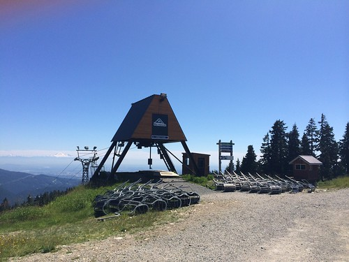 View from Mount Seymour with Mount Baker in background