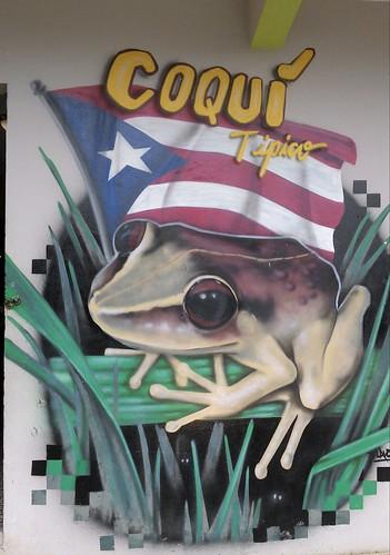 mural coqui tipico