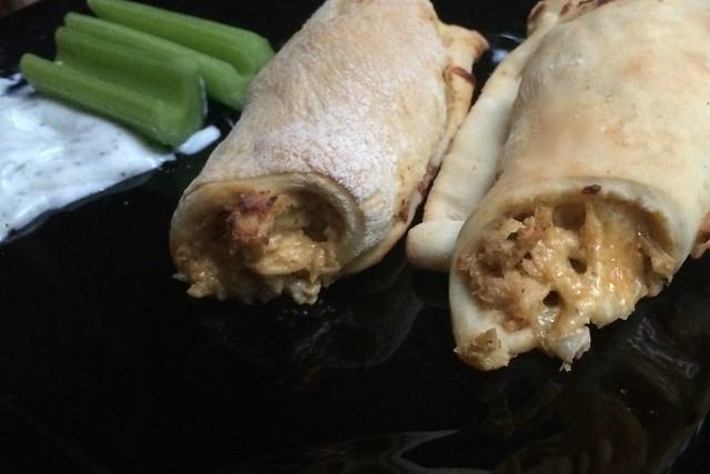Buffalo Chicken Roll-Ups