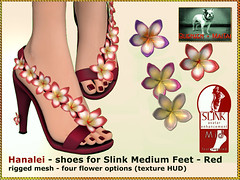 Bliensen - Hanalei - shoes for Slink Mid Feet - red