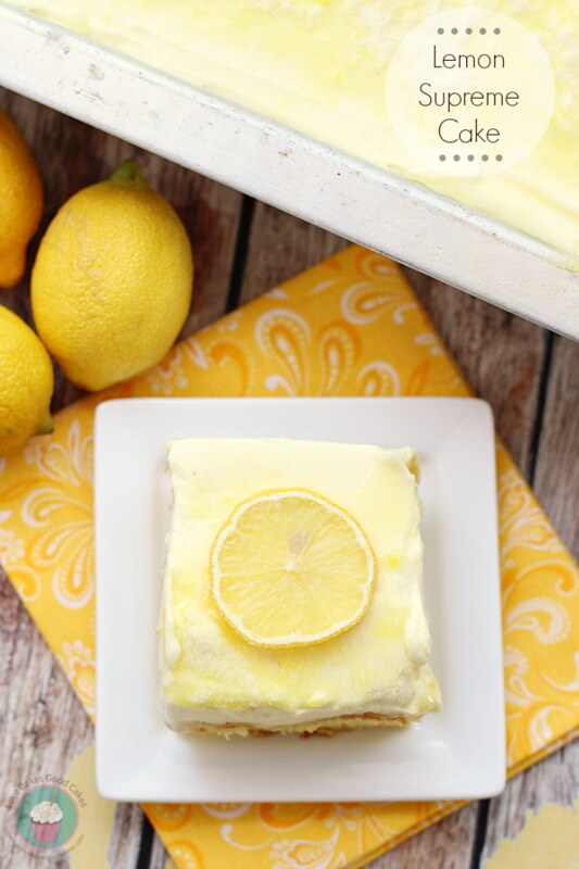 Full of lemon flavor, this Lemon Supreme Cake is for the true lemon lover! #lemon #cake
