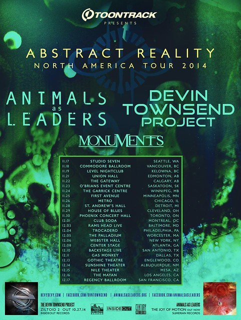 Animals As Leaders at Rams Head Live