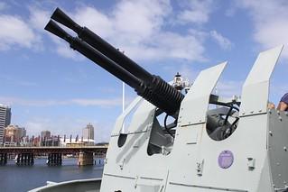 Imagem de HMAS Vampire perto de Pyrmont. sydney australia