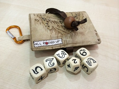 The One Ring RPG Dice and matching ARU case