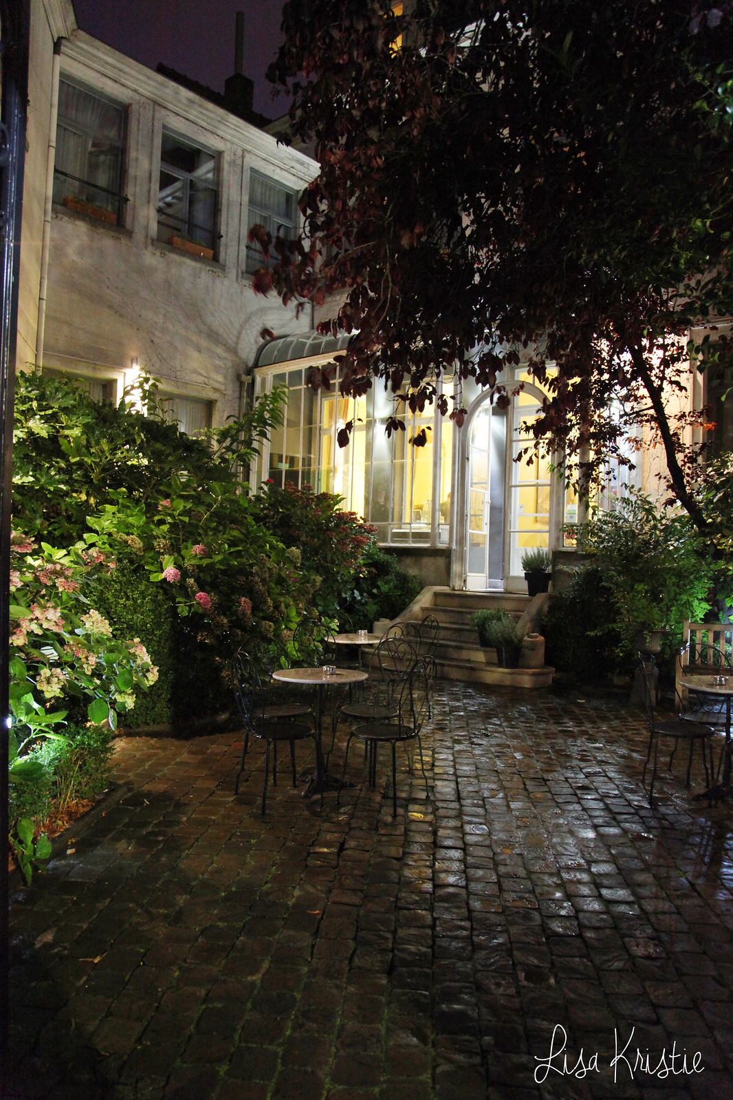 martin's hotels bruges brugge belgium by night rainy entrance doorway patio charming style