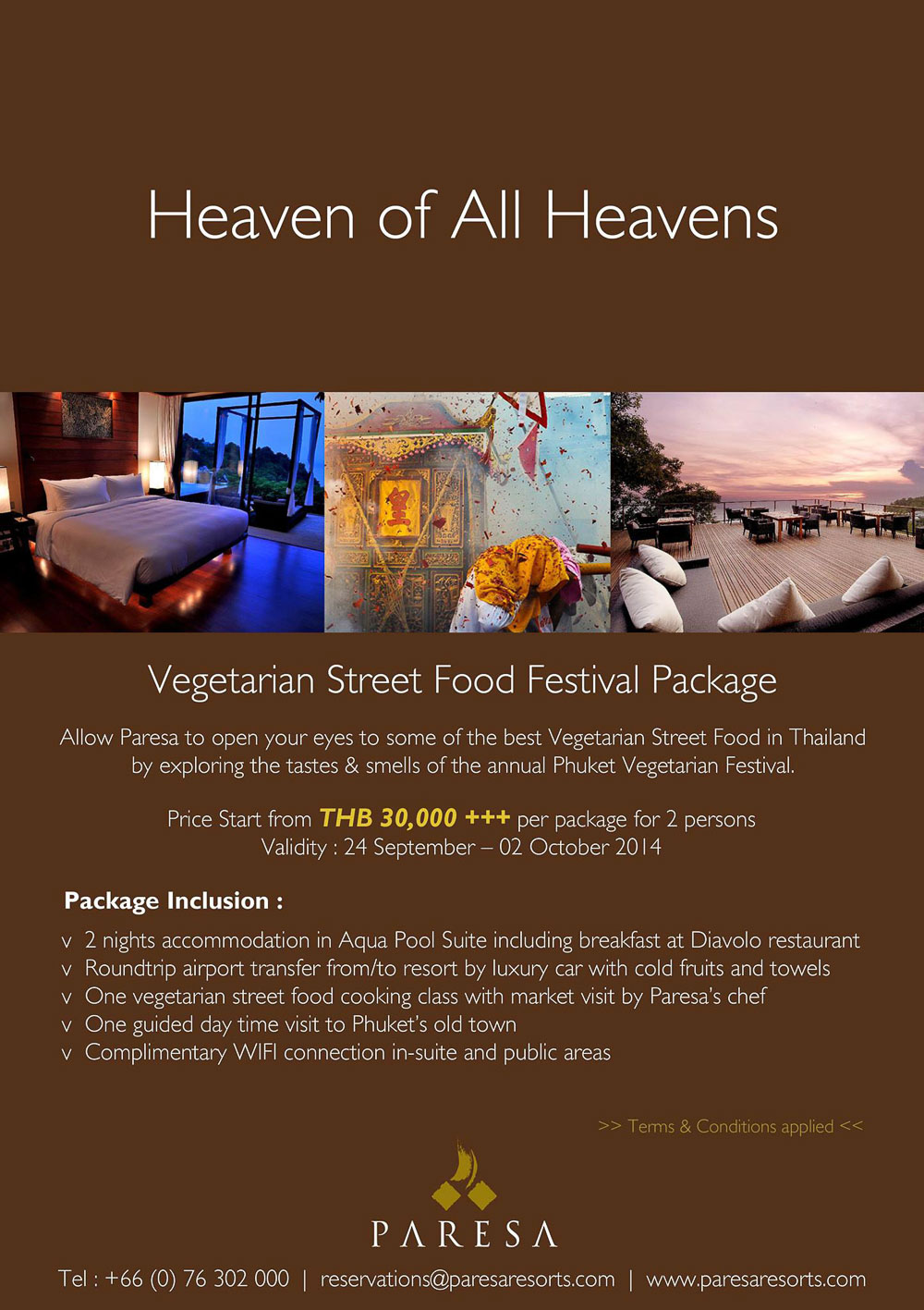 Paresa Resort Vegetarian Street Food Festival Package