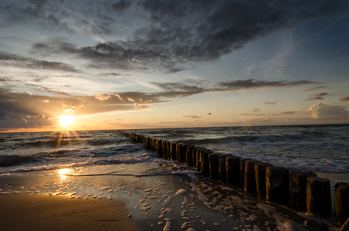 ocean trip travel blue light sunset sea summer vacation sky orange sun color colour tourism beach nature water colors clouds germany lens landscape outside photography golden photo sand nikon colorful europe raw colours image photos outdoor wide wideangle balticsea journey traveling darss 10mm dars d5100