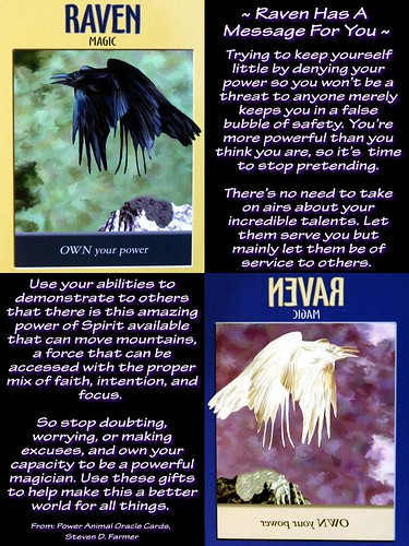 ~ Raven Has A Message For You ~