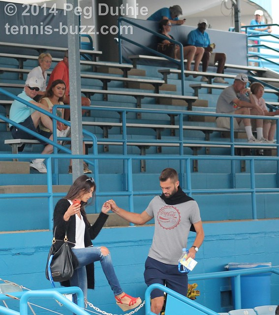 Benoit Paire and his partner
