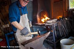 forge, metalworking, person, blacksmith,