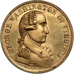 Washington of Virginia gold medal obverse