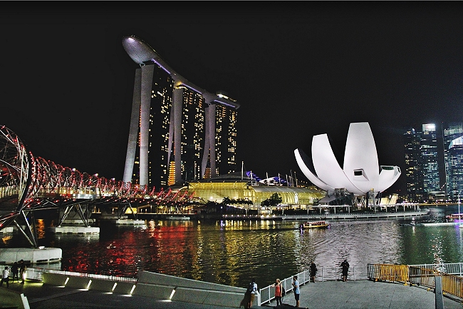 Skyline Singapur, Marina Bay