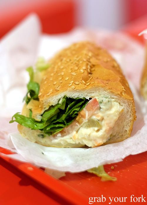 Olivieh sandwich at Aria Persian Fast Food, Merrylands