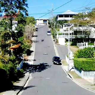 We tackled this steep hill during our morning walk today. Brisbane is giving me a good workout!