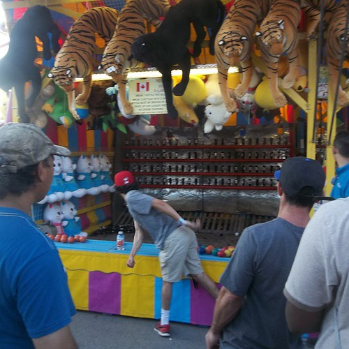 Throwing for tigers #toronto #Torontophotos #cne #exhibition