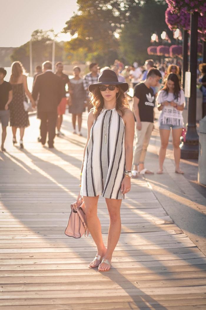 va darling. dc blogger. virginia personal style blogger. swing dress. georgetown waterfront. felt fedora hat. joie sandals. summer style 8