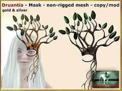 Bliensen - Druantia - Mask - gold & silver