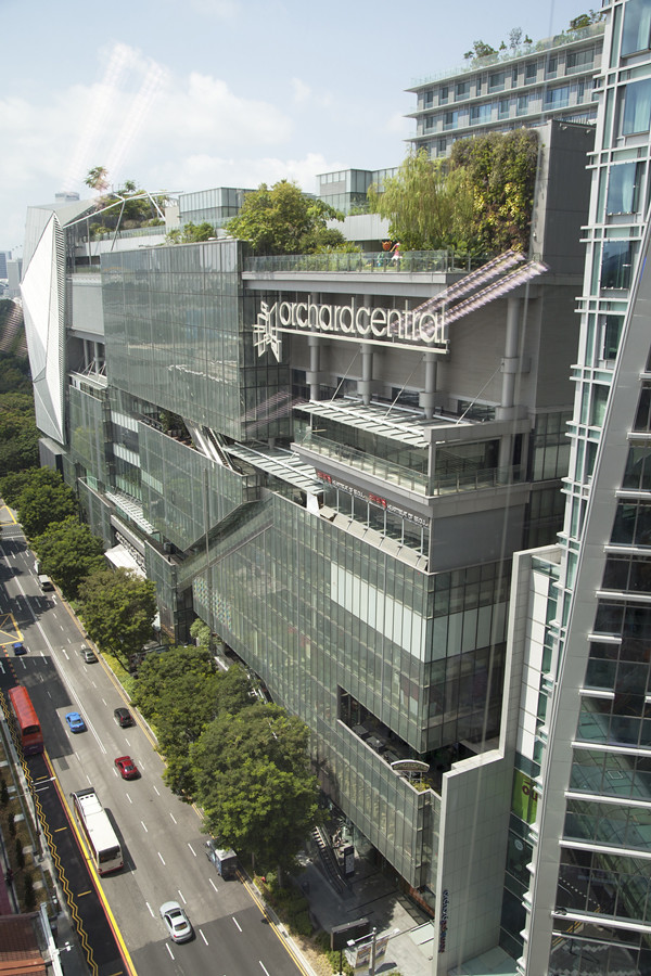 Awesome view of Orchard Road from the M2 Academy campus