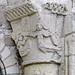 Chapiteau de la porte d'entrée de la prieurale de Cunault ©dalbera