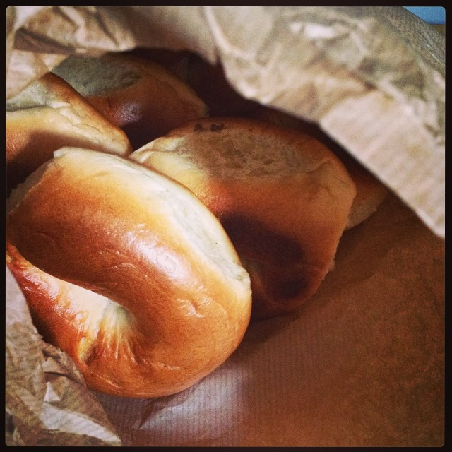 Clever me for buying such a huge bag when I was in Brick Lane yesterday #bagelsallweekend