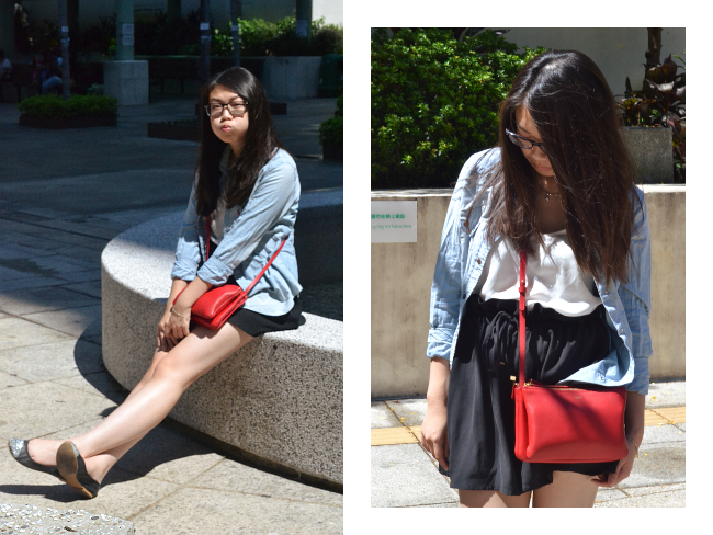 Daisybutter - UK Lifestyle and Fashion Blog: what i wore, hong kong fashion blog, celine trio, how to style a denim shirt