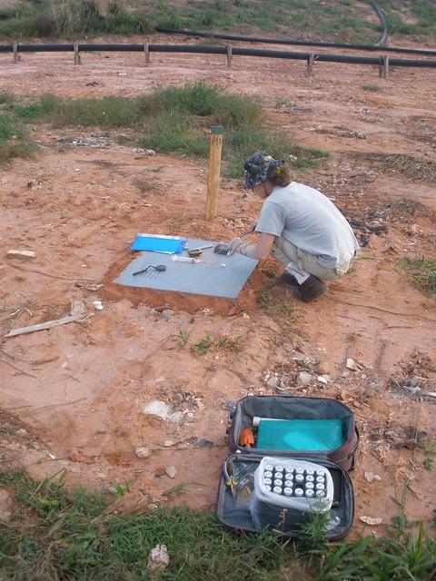 Material para coleta das amostras de gás
