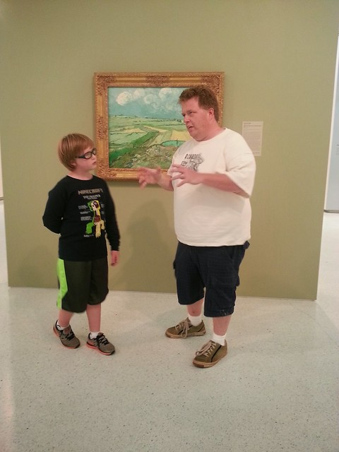 Discussing a favorite Van Gogh