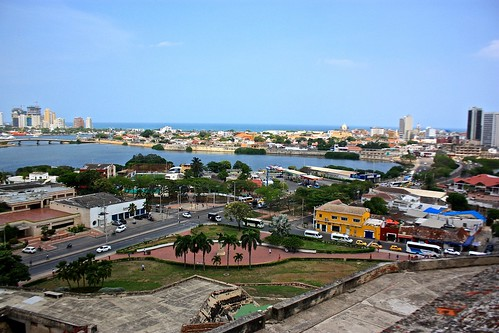 Cartagena's old city from Castillo San Felipe de Barajas