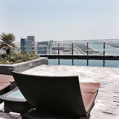 The pool area in Rayana Spa in Hyatt Capital Gate #InAbuDhabi