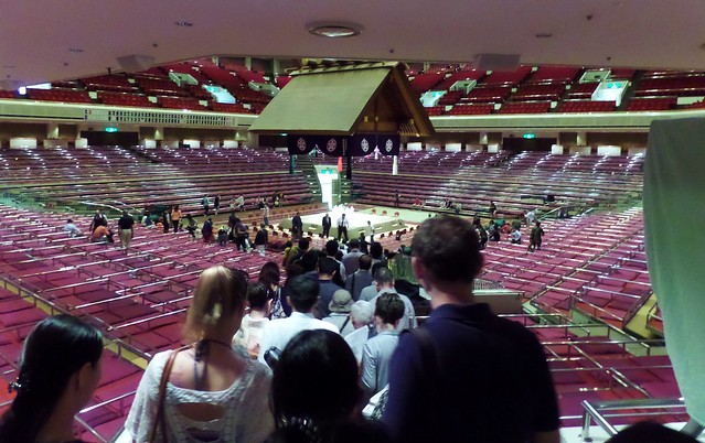 Sumo Ring with Shinto Shrine type roof