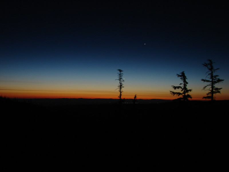 Central Oregon before sunrise