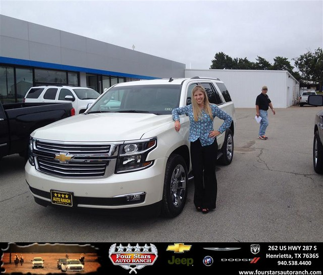congratulations to kayla hupp on your chevrolet tahoe purchase from mark havens at four stars. Black Bedroom Furniture Sets. Home Design Ideas