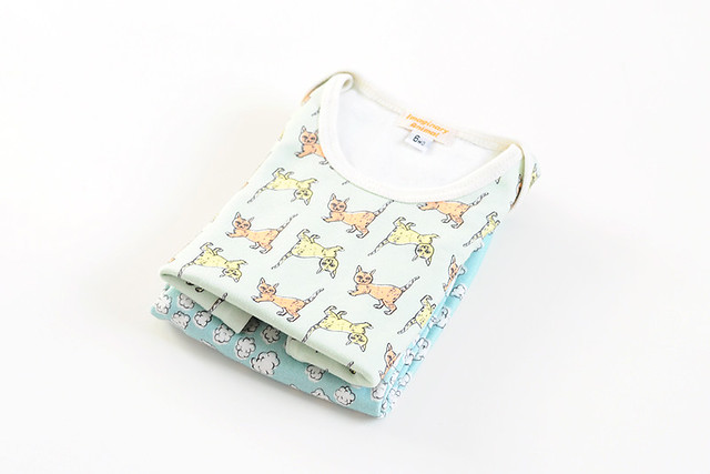 cats and clouds baby outfit