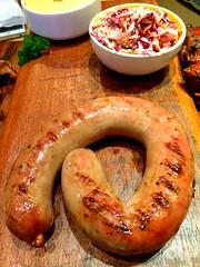 produce(0.0), weisswurst(0.0), pretzel(0.0), sausage(1.0), meat(1.0), food(1.0), dish(1.0), snack food(1.0), kielbasa(1.0), bratwurst(1.0),