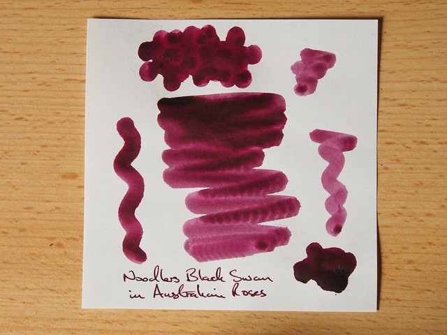 Noodler's Black Swan in Australian Roses - Ink Review - Shading