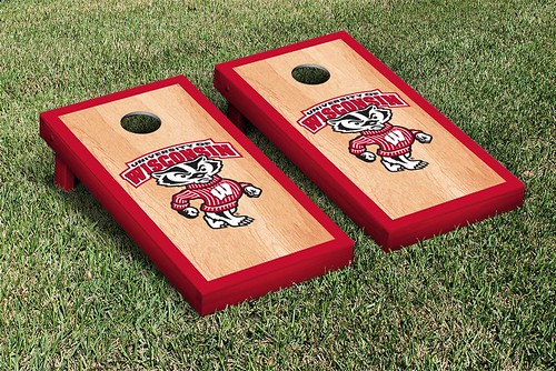 Wisconsin Badgers Cornhole Game Set Hardcourt Version