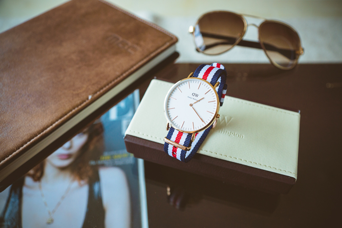 Olga choi fashion blogger myblondegal Korea Daniel Wellington Classic Bristol watch nato strap -01174