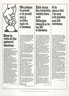 Advice provided by the Chief Electoral Office on how to vote in the 1975 General Election