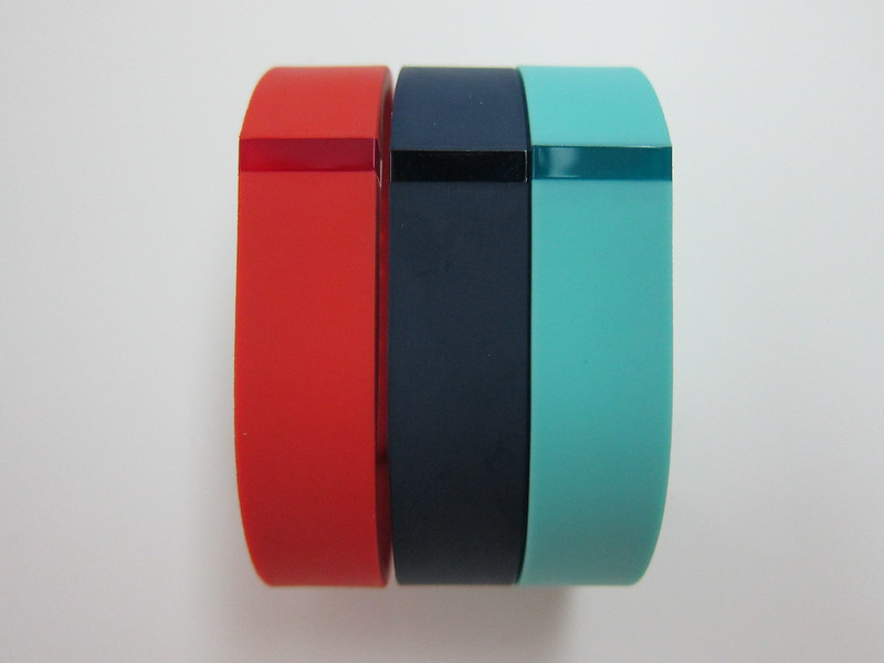 Fitbit Flex Accessory Wristbands - Tangerine, Navy & Teal - Front