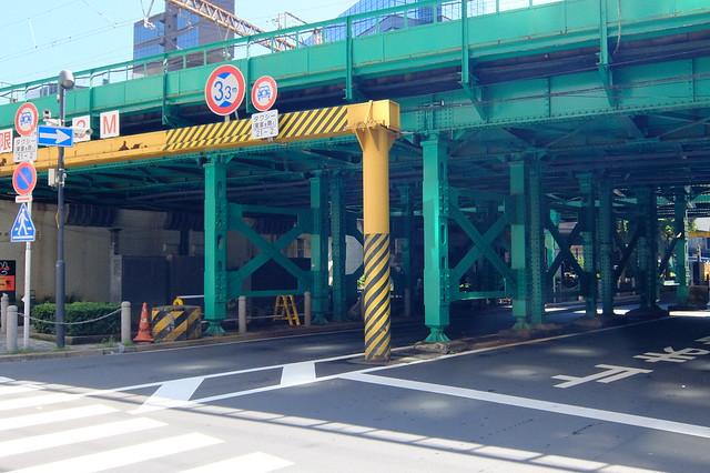 Ginza to Shinbashi in Tokyo, Japan.